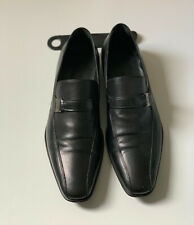 Hugo Boss Size 8 Leather Loafers Made In Italy