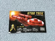 STAR TREK Mega Blocks RED USS Enterprise Con Exclusive mini pack sdcc lego new 1