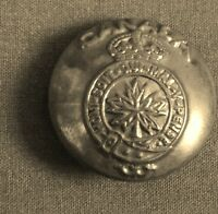 Vintage WWll Canadian Military Brass Button w/ Crown and Maple Leaf Collectible