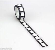 Movie Reel Film Print Washi Craft Adhesive Tape Decorative Scrap Book 15mm x 10m