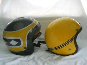 Vintage SkiDoo Snowmobile Helmets. LOT OF TWO HELMETS,  (D.S.)