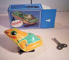"""07 164 Plasticart """"QUAK Frosch,orange (hüpfend mit Federwerk)"""""""