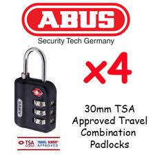 ABUS TSA APPROVED TRAVEL Combination Padlocks - 30mm Resettable  x 4 Pack