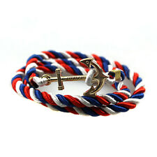 Rope Wristband Bracelet Handmade Multilayer Women Leather Men Bangle Gift