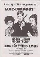 JAMES BOND LIVE AND LET DIE GERMAN PHANTOPIA 4 PAGE FILM PROGRAM ROGER MOORE
