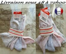 lot de 5 paires de chaussettes femmes 80% coton 20 % polyester