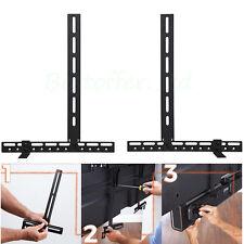 UNHO Sound Bar Wall Mount Attaches Soundbar Below TV Using VESA Holes or Bracket