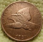 1857 XF Flying Eagle Copper Nickel Cent Great details Pre-Civil War-Era Relic..