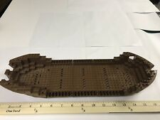 Lego 5 Piece Boat Hull Large Stern 14 x 16 x 5 1/3, Vintage Castle, Pirate Brown
