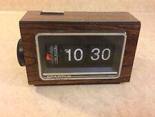 RARE Vintage Spartus Model 1200 Flip Roll Clock