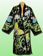 Magnificent Uzbek Silk Embroidered Robe Chapan V2509