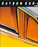 1981 Datsun Nissan 200SX 200-SX Original Car Dealer Sales Brochure Catalog