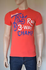 NEW Abercrombie & Fitch Lumber Road Three Way Trike Humour Tee T-Shirt Red L