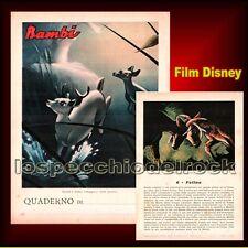 Bambi Walt Disney - Felina -  Quaderno da collezione mai usato, intonso
