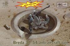 Breda 37/54 37mm Segunda Guerra Mundial italiano antiaéreos pistola 1/35 Ibg