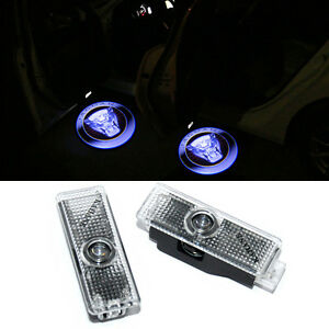 2 LED Door Light Projector For JAGUAR F TYPE V8 S Courtesy Logo Emblem 2013-2021