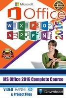 Mastering MS Office 2016 Complete Video Training Tutorials Instant DOWNLOAD