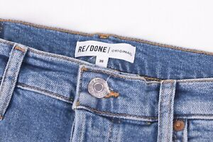 Levi's Re/Done Originals NWT Blue Jeans Size 30W High Rise Ankle Crop Stretch