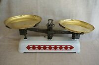 Roberval Balance SCALE - Red and White ENAMELWARE GRANITEWARE - French