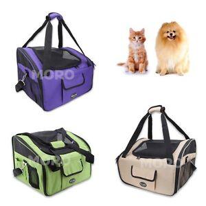 Petcomer Large Pet Carrier Dog Cat Car Booster Seat Portable Cage Travel Bag OZ