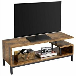 55'' TV Stand Television Stand & Entertainment Center with Open Storage Shelf
