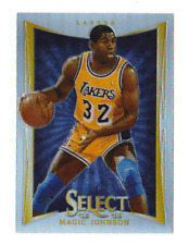 2012 MAGIC JOHNSON Panini Select Prizms Refractor Parallel Card #135 NBA LAKERS