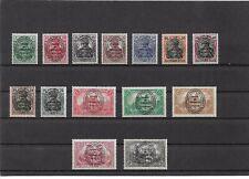 Allenstein, 1920 Michelnummern: 15 - 28 *,  ungebraucht *, Katalogwert € 38,00