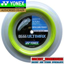 YONEX BG66 ULTIMAX 200M COIL BADMINTON STRING YELLOW COLOUR