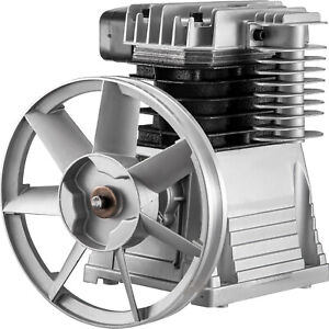 VEVOR 3HP Aluminum Air Compressor Head Pump Motor 160PSI Silver 1300PRM