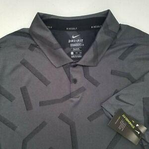 New Nike Golf Dri Fit Polyester Nylon Polo Shirt Mens Size 2XLT 2XL TALL R103P