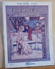 Toreador Song - 1902 large sheet music - from opera Carmen, Starmer cover art