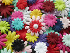 100! Handmade Mulberry Paper Flower Petal Blossom Daisies - Colour Mix Daisy!