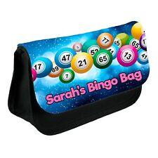 Personalised Bingo Bag For Pens Dabbers Pencil Case Make Up Bag Custom New