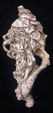 Clearance Vintage Green Man Leaf Face Wall Plaque Plaster
