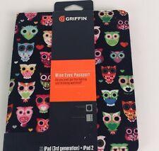 "Griffin Folio Case iPad + iPad 2 (3rd Generation) OWL Print 9.5""X 7.5"""