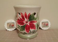 Yankee Candle Christmas Poinsettia Tart Warmer with North Pole Wax Tarts