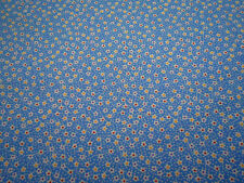 1930s Reproduction Fabric By The Yard Small White Floral on Blue Windham Cotton