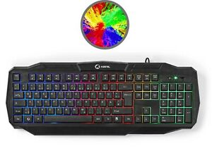 Gaming PC Tastatur LED Regenbogen RGB Beleuchtung USB 2.0 Deutsch XBOX PS4