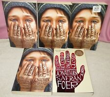 EXTREMELY LOUD AND INCREDIBLY CLOSE by Jonathan Foer lot of 5 DUPLICATE Copies