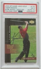 2001 Tiger Woods SP Game Used PSA 10 Autograph Rookie 2002 Buyback S/N 3/3 POP 1