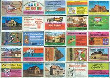 25 alte Gasthaus-Streichholzetiketten aus Deutschland #795