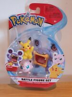 Pokemon Battle Figure Articulated Set Of 3 - Loudred, Pikachu & Jigglypuff NEW