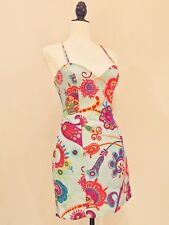 MOSCHINO Couture - VTG Blue Pink Orange Floral Sheath Mini Cocktail Dress Sz 6