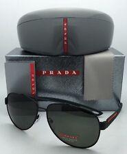 e22adc905f9 Polarized PRADA Sport Sunglasses SPS 55Q DG0-5X1 Black Rubber Green w green  Lens