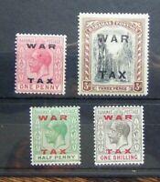 Bahamas 1919 War Tax set to 1s MM SG102 - SG105