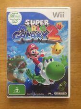SUPER MARIO GALAXY 2 + DVD NINTENDO WII complete game pal no manual vg+ conditio