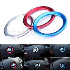 new one 45mm Steering Wheel Center Ring Cover Emblem Decor Trim For BMW