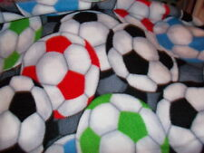 soccer balls   personalized  scarf  fleece  fabric
