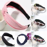 Women Twist Hairbands Cross Knotted Headwrap Hair Band Hoop Hairwear Accessories