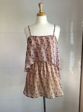 Gorgeous Floaty Blush Pink Floral Summer  Top/Blouse/Cami TopShop Size UK6 VGC